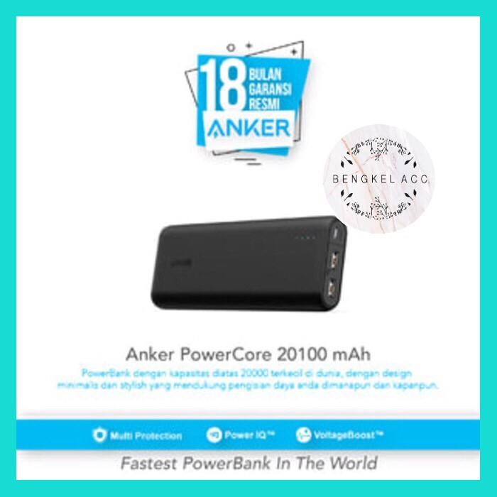 Powerbank anker powercore 20100 mah dual port ultra fast charging