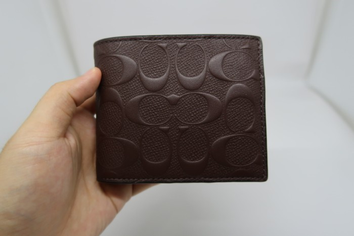 Jual Dompet Coach Cowok Original   Men Wallet Compact ID Embossed ... 4cf6978132