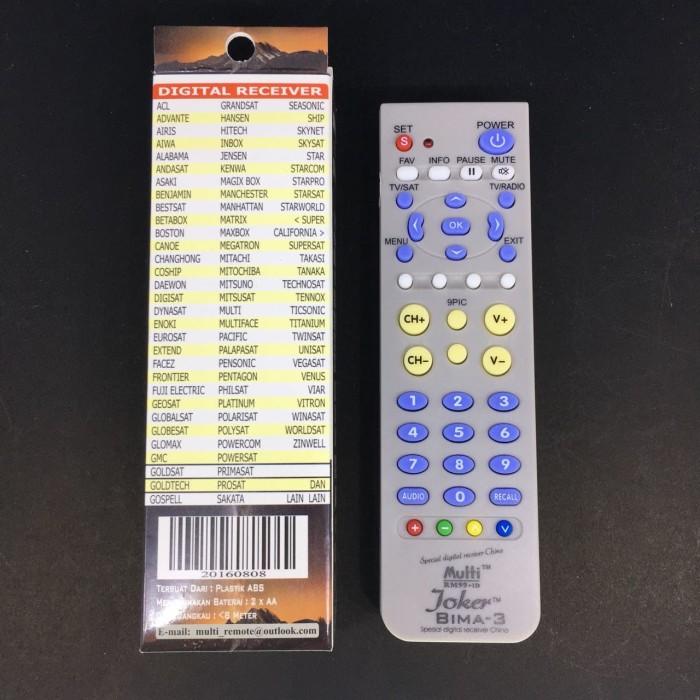 AC for National. Source · Remote Digital Receiver Joker universal pintar .