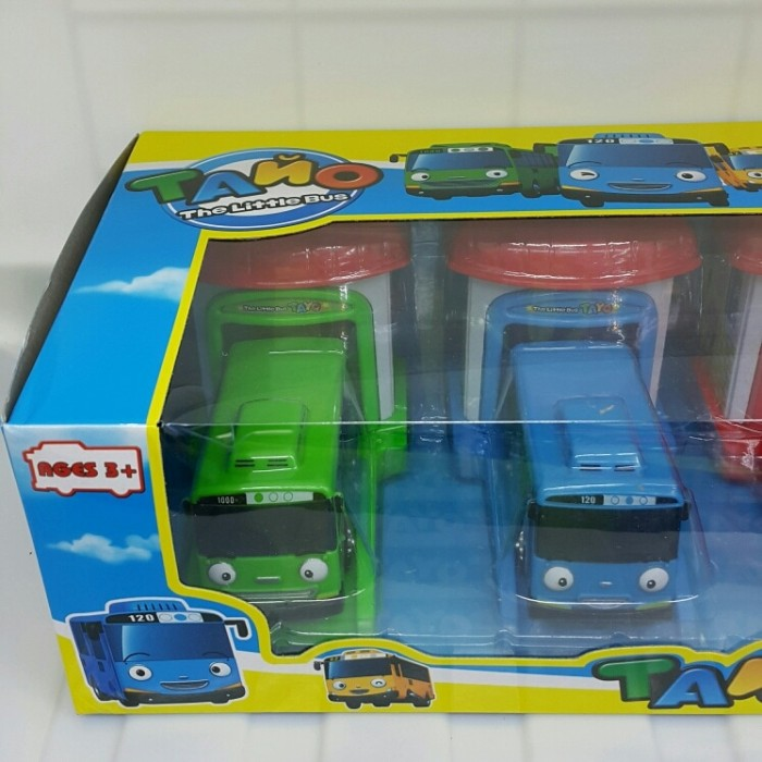 4pcs/Set The Little Bus Tayo Lani Rogi Gani + Bagasi Mainan .