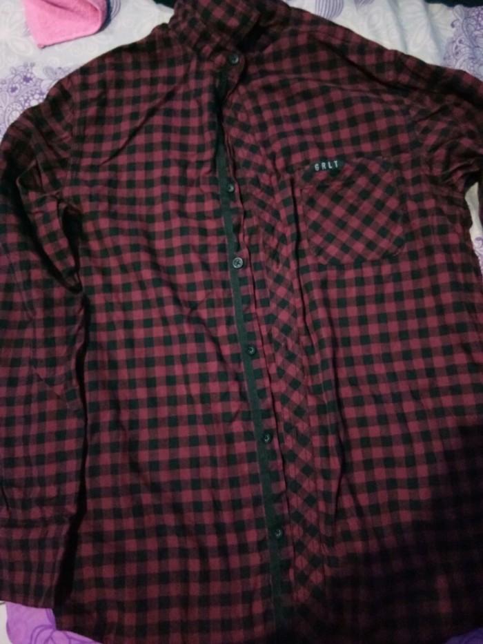 Kemeja Flannel Greenlight size L Original Like new.