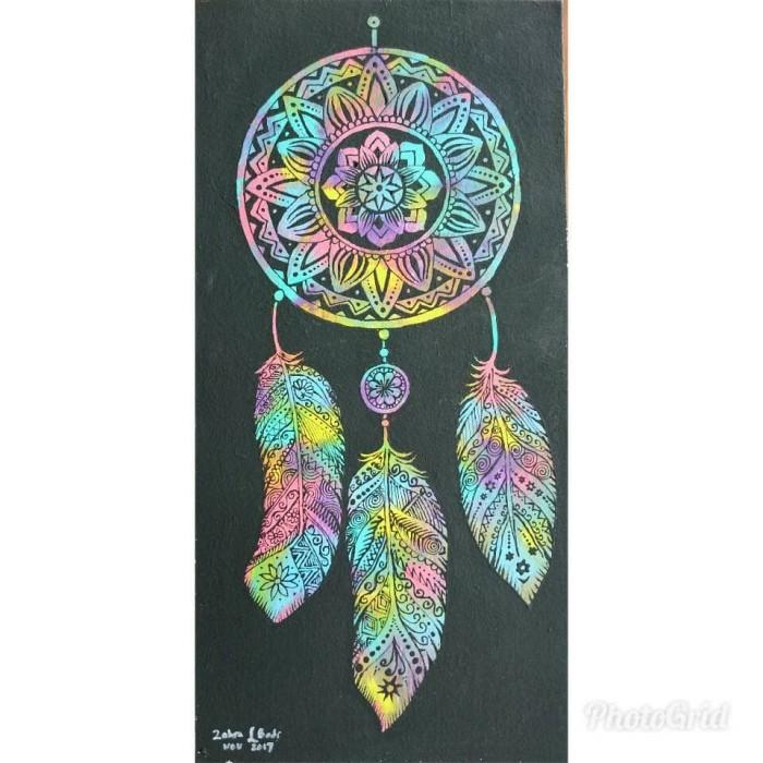 Jual Lukisan Mandala Dreamcatcher Painting Acrylic Kab Kediri Zahra Art And Craft Tokopedia