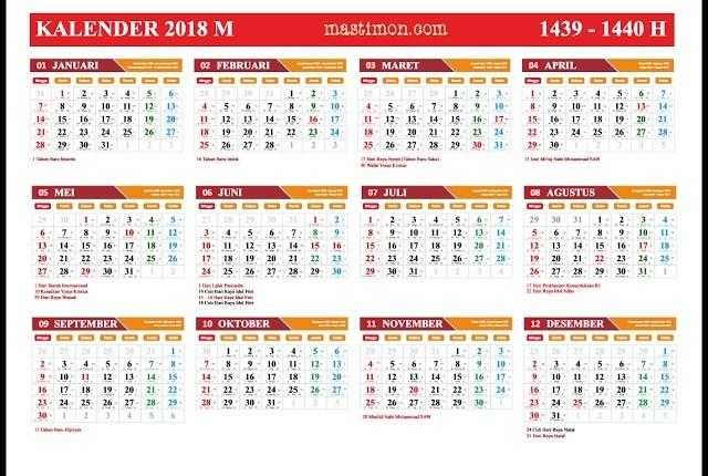 Jual Kalender 2018 Tanggal Merah Lebih Banyak Dan Bisa Request