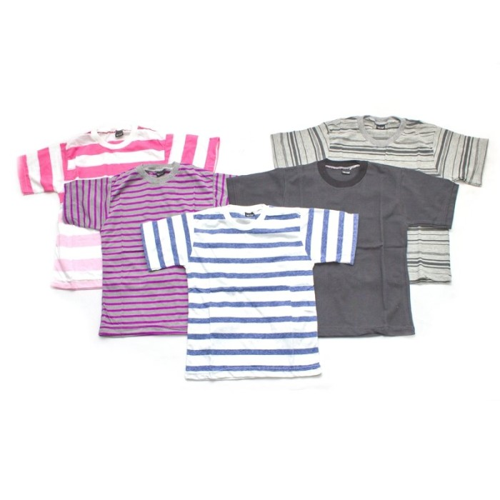 Foto Produk BAJUYULI - Kaos Anak Murah Harga Grosir Salur Oblong 4-5 Tahun KAS-L dari Bajuyuli