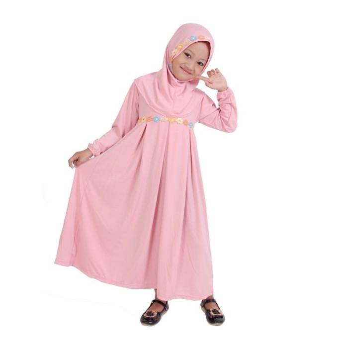 Foto Produk BAJUYULI - Baju Muslim Anak Jersey Murah Polos Cantik Peach SS01 - M dari Bajuyuli