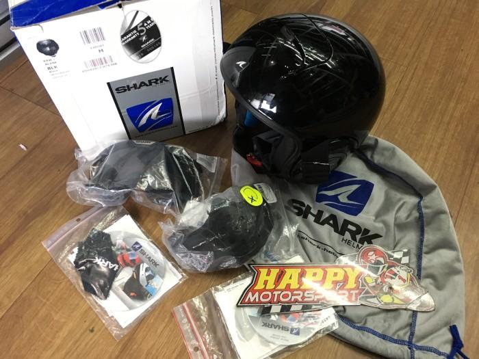 harga Sale!! brand new 100% helm shark raw black glossy original france sz m Tokopedia.com