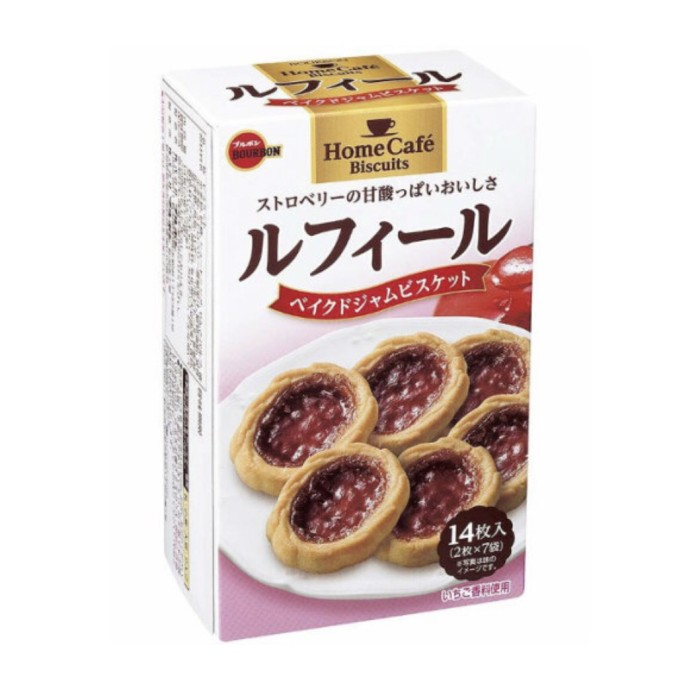 harga Bourbon rufeeru 14p (biscuit with strawberry jam) Tokopedia.com