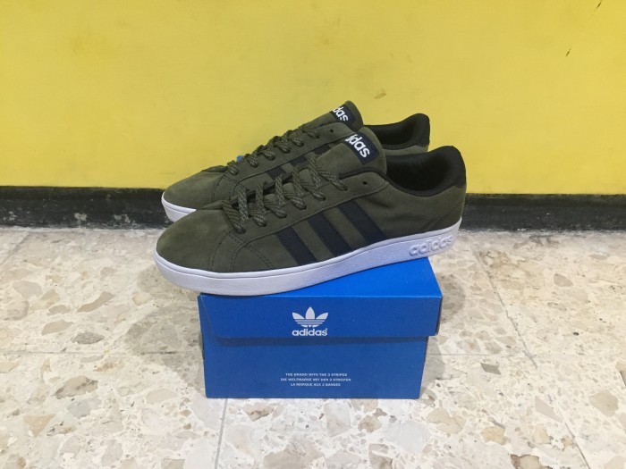 detailed look 1b6e4 cb14f ... adidas neo baseline suede olive green ORIGINAL ...