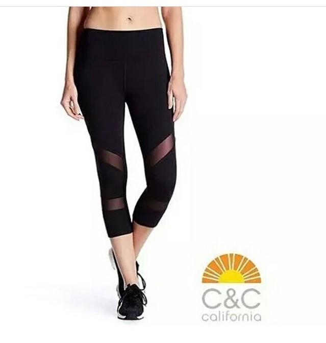 Jual C C Black Mesh Capri Celana Legging Olahraga Gym Yoga Murah Grosir Kota Bekasi S2h Tokopedia