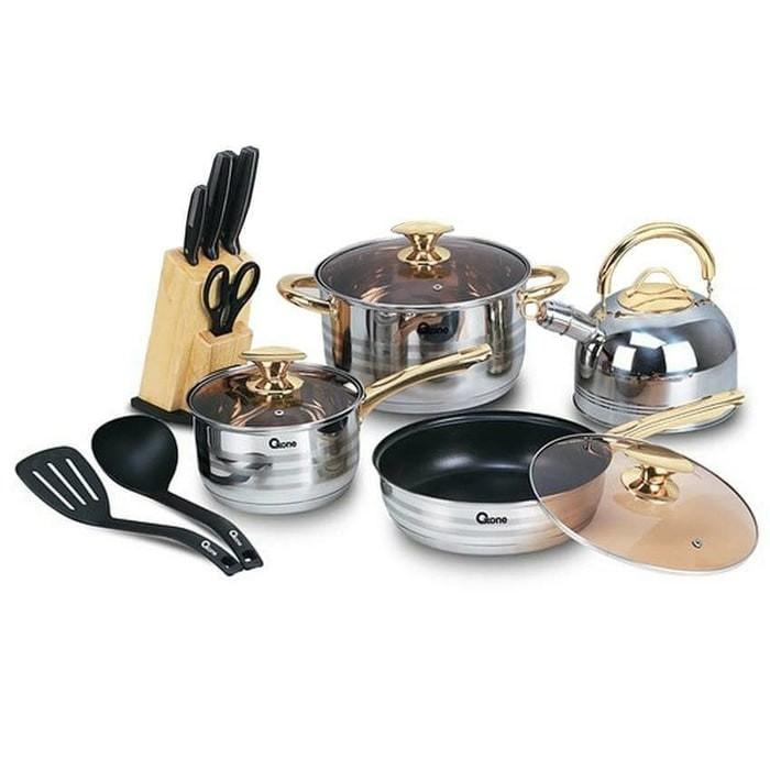 oxone panci set / rosegold cookware set ox-777