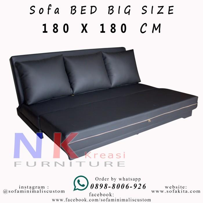 harga Sofa bed minimalis ( big size 180 x 180 cm ), sofabed kasur inoac. Tokopedia.com