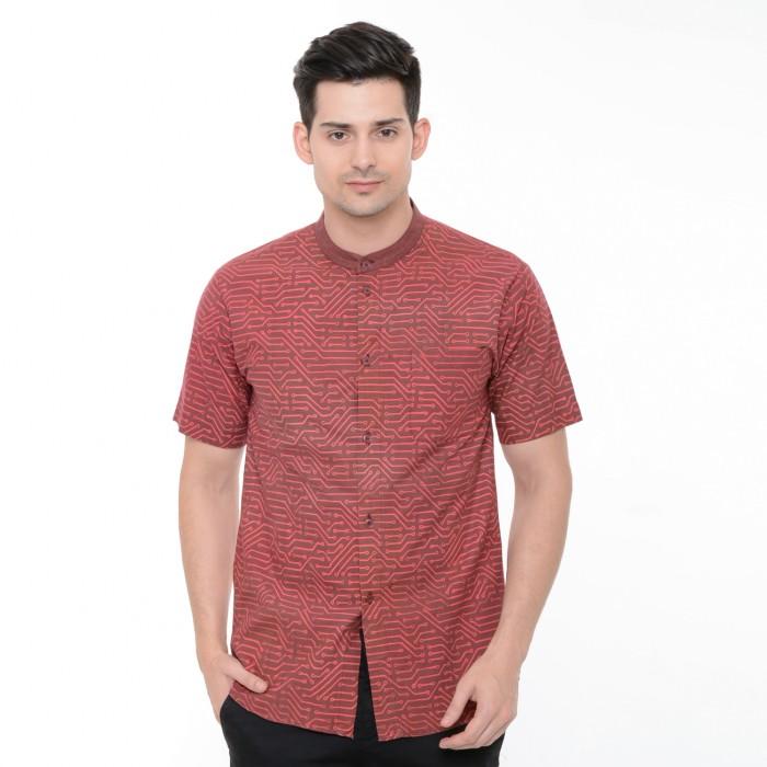 Foto Produk Kemeja Batik PCB - Merah - Merah, S dari Kainusa