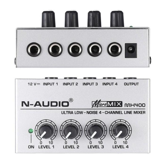 harga Mx400 ultra-compact low noise 4 channels line mono audio mixer with p Tokopedia.com