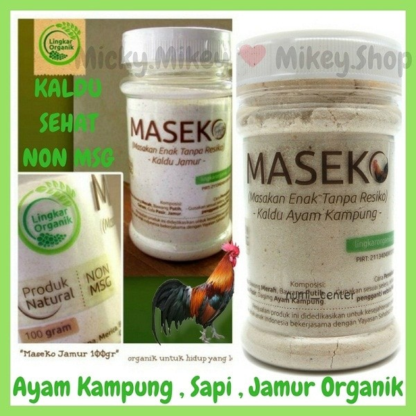 harga Kaldu sehat non msg mpasi jamur organik maseko botol (bkn alsultan Tokopedia.com