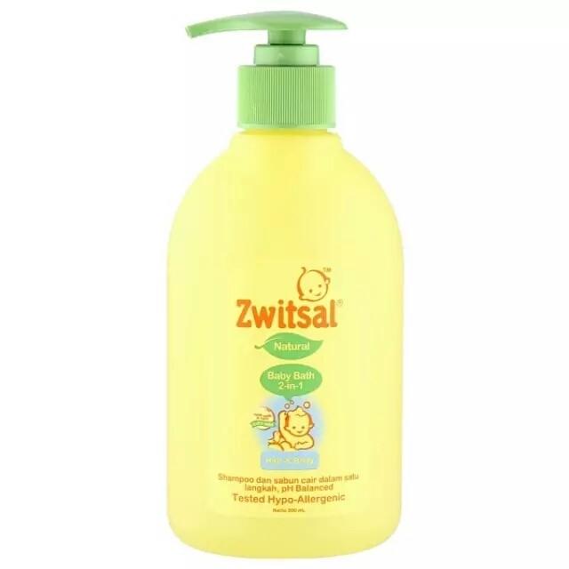 harga Zwitsal natural baby bath 2 in 1 hair & body 300ml / 2in1 sabun bayi Tokopedia.com