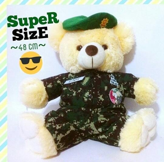 Jual Hadiah Special Boneka Teddy Bear Jumbo Profesi TNI ABRI Tentara ... af7645b732