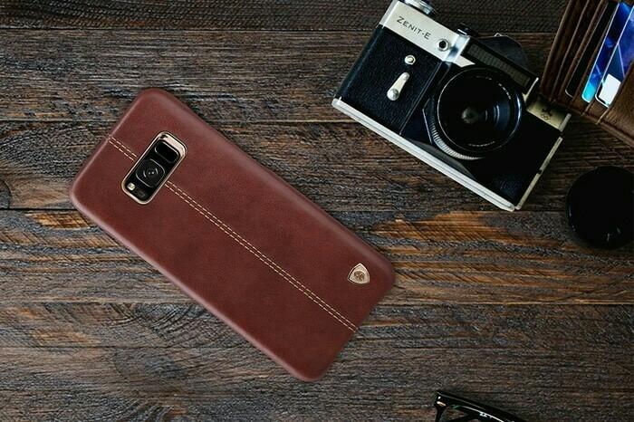 Samsung Galaxy S8 Plus Nillkin Englon Back Original Soft Hard leather