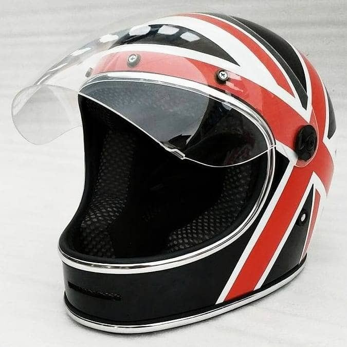 Bell Bullitt helm custom motif England. helm cakil. helm jadul. retro 1
