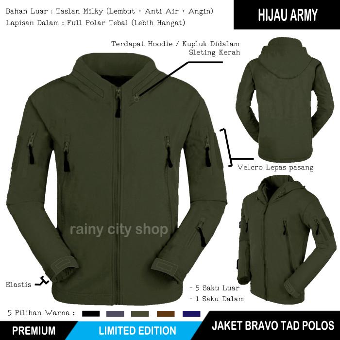 Jaket bravo tad tactical army / grey / black