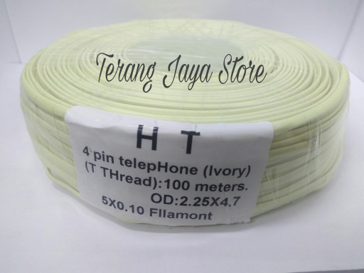 harga Kabel line telepon rumah isi 4 kawat (1 roll : 100 meter) kabel roset Tokopedia.com
