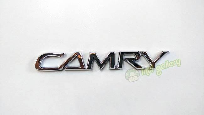 Emblem tulisan toyota camry high quality