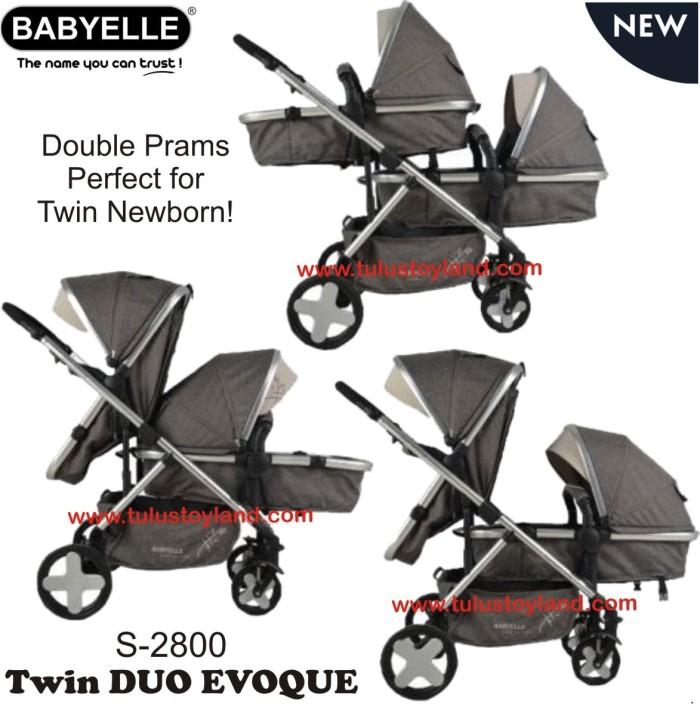 harga Babyelle twin evoque duo stroller kembar Tokopedia.com