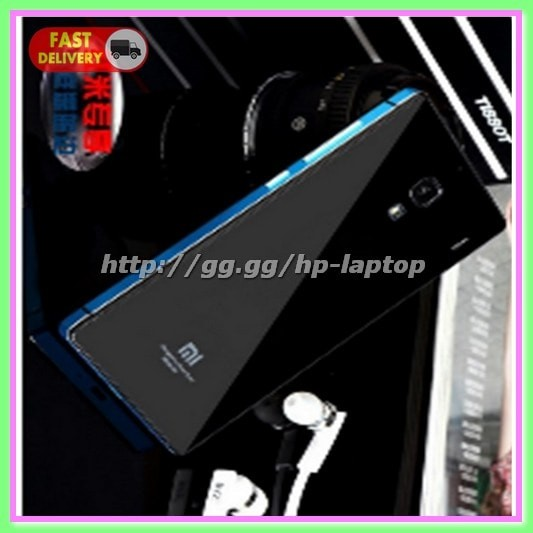 Aluminium Tempered Glass Hard Case Xiaomi Redmi Note 2 Black Blue