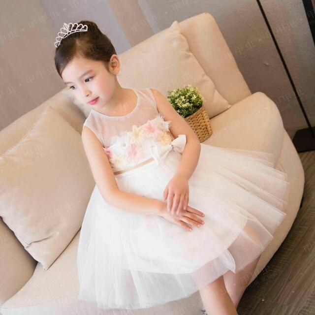 Jual Dress Pesta Putih Bagus Dress Natal Anak Dress Putih Mewah