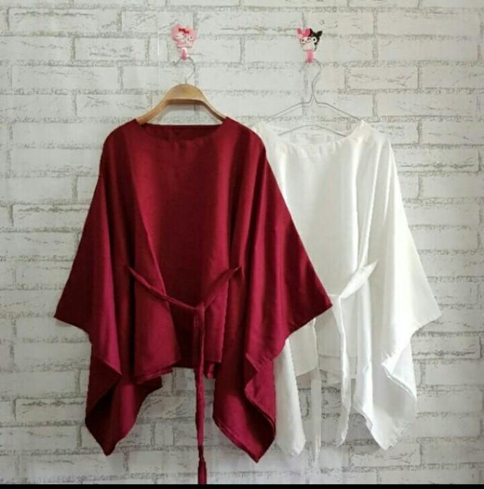 harga Baju atasan wanita blouse lengan kalong ikat top blouse wanita Tokopedia.com