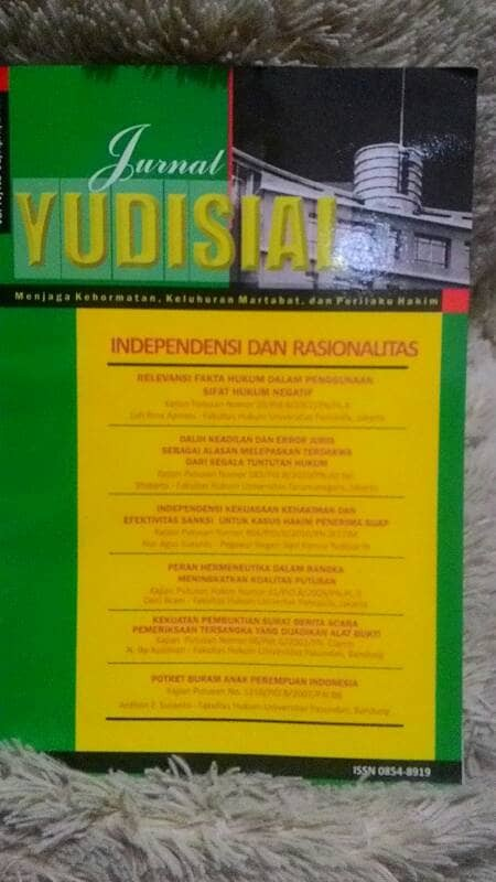 Jual Jurnal Yudisial Vol Iv No 01 April 2011 Jakarta Selatan Toko Buku Ceria Tokopedia