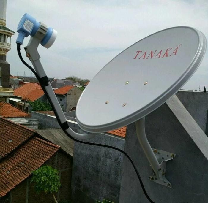 harga Antena parabola solid tanaka + lnb ku band + kabel rg6 ninmedia 45cm Tokopedia.com