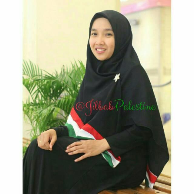 harga Jilbab palestine 150x150 segi empat wolfis polos hijab palestina khima Tokopedia.com