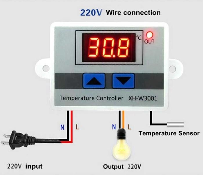 Termostat/Thermostat Pengatur suhu/Temperatur Otomatis Mesin Penetas/Tetas Telur/Incubator/