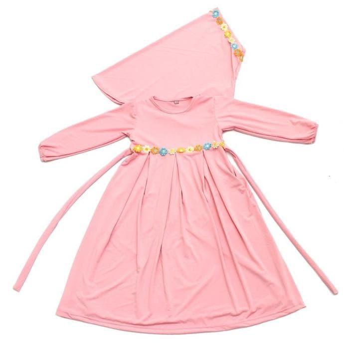 Baju Muslim Gamis Anak Perempuan Murah Simple Lucu Peach GAMIS ANAK