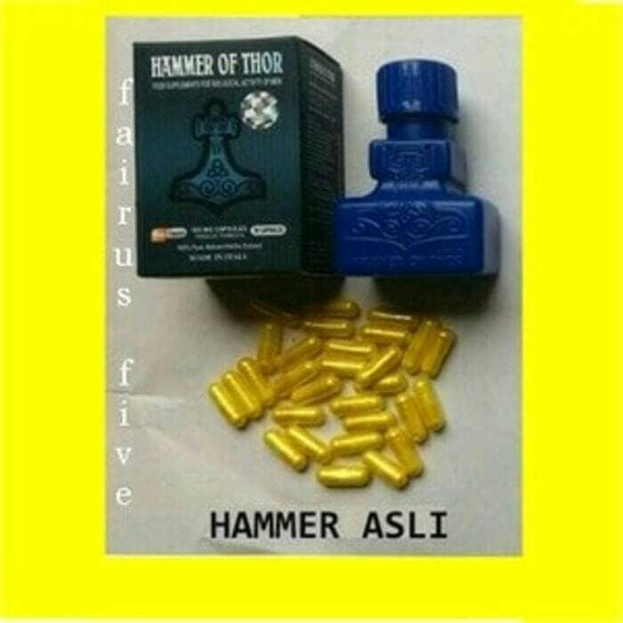 jual hammer of thor asli botol martil 850mg ada titan gel penirum