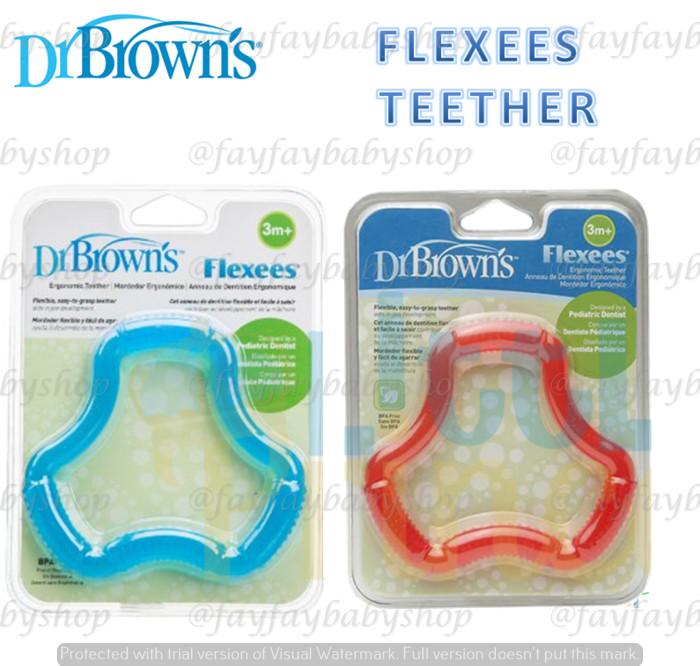 Dr browns flexees teether gigitan bayi ergonomis
