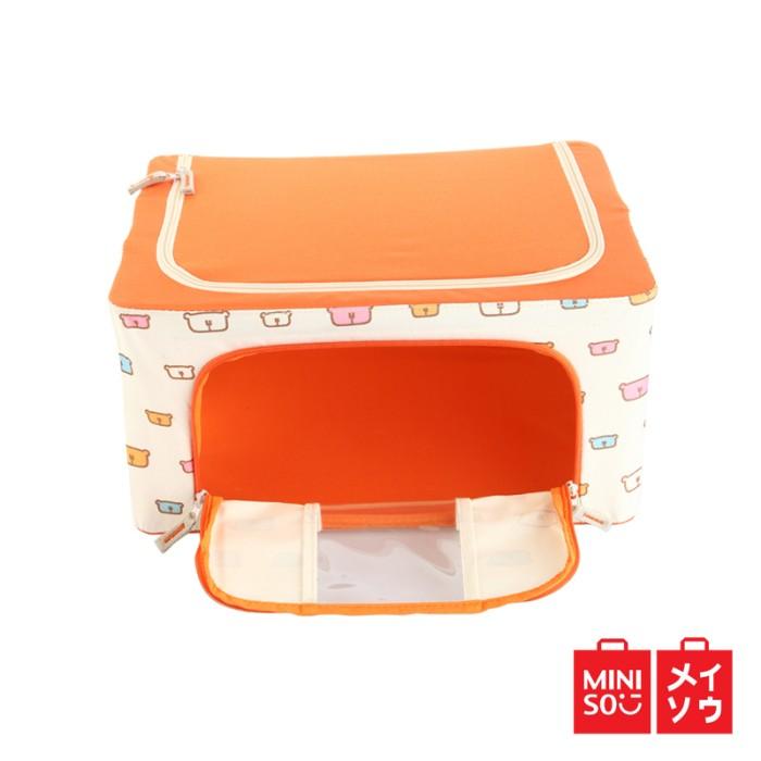 harga Miniso official 66l cartoon steel frame storage box (orange) (3931mn) Tokopedia.com
