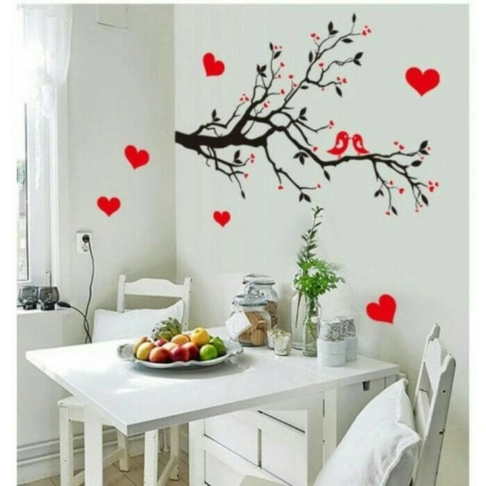 WALL STICKER STIKER DINDING 50X70 AY7179 LOVE BIRD TREE