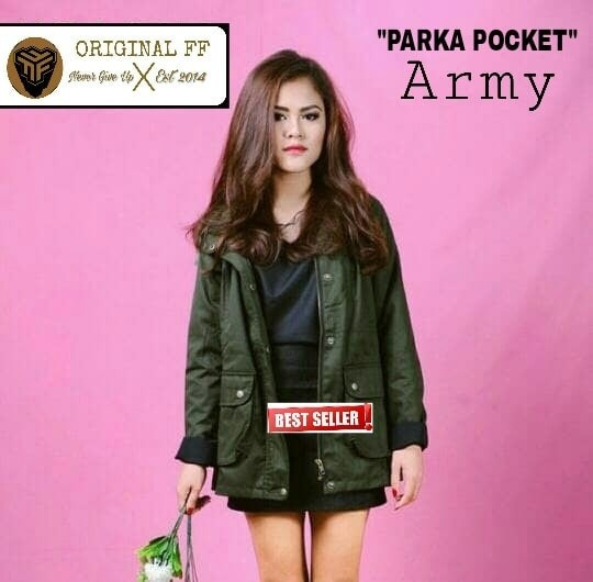 Jaket Parka Wanita   Perempuan Distro casual Model Terbaru Bagus Murah 7d60f7b5d2