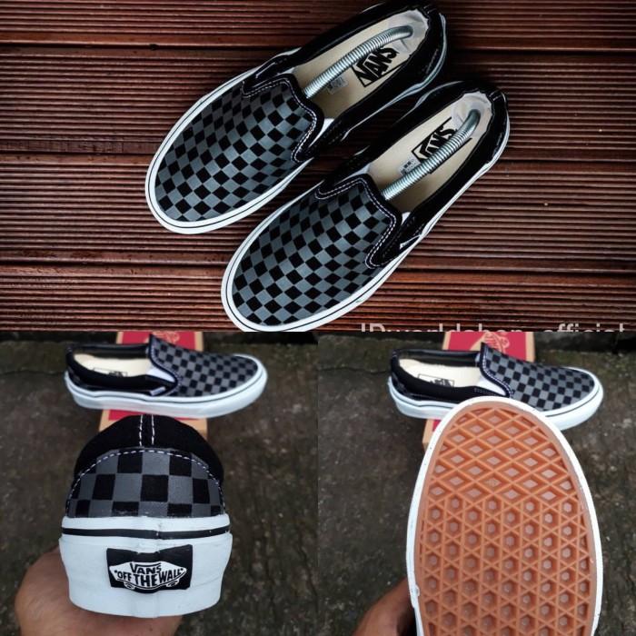 92bd0d0c68 Jual Sepatu vans slip on checkerboard black import premium BNIB ...
