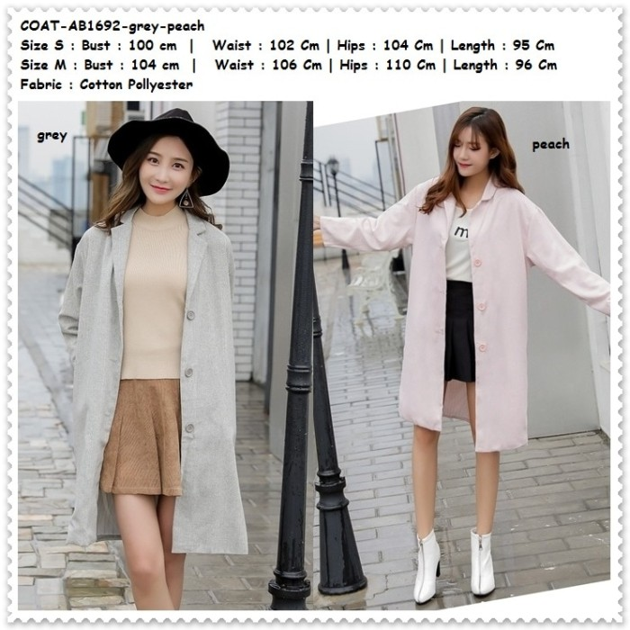... harga Winter long coat jacket jaket blazer cardigan wanita korea import  Tokopedia.com e050c7a2f5