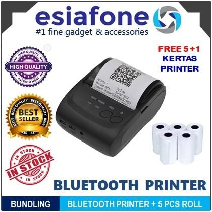 harga Paket hemat zjiang mini mobile bluetooth printer pos zj-5802 + kertas Tokopedia.com
