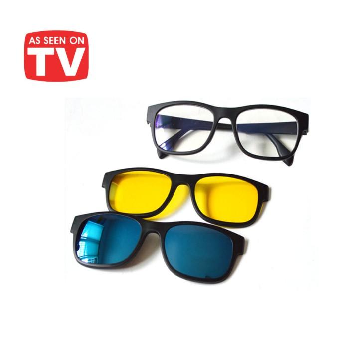 Jual Ask Vision Kacamata 3 in 1 Magnet Lenses kaca mata - Palugada ... 01bac6224e