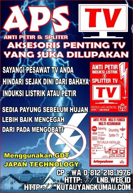 Foto Produk ANTI PETIR TV (PENGAMAN TV DARI PETIR / INDUKSI TEGANGAN TINGGI) dari kutauyangkumau