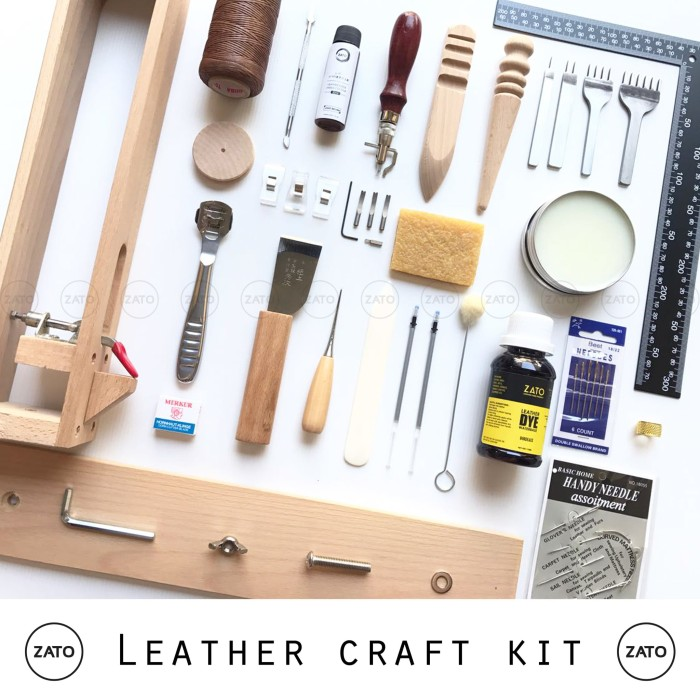 Foto Produk Leather craft kit PRO set - leather tools set - leather kit set dari ZATO INDONESIA