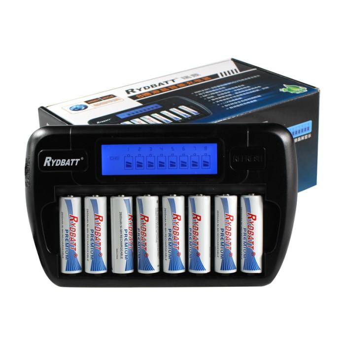 harga Rydbatt fast charger & refresh 8 slot aa aaa (not powerex eneloop) Tokopedia.com