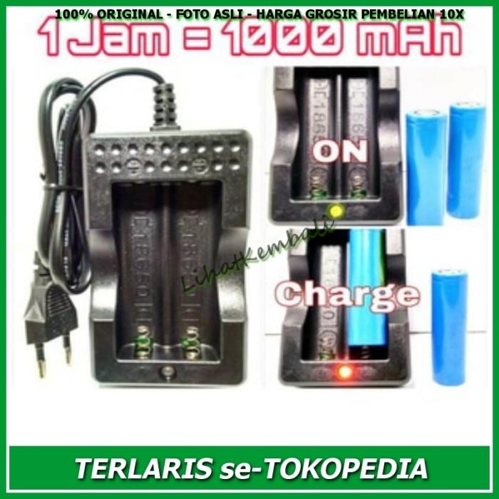 Battery Charger 18650 2 Slot / Baterai Cas Vape
