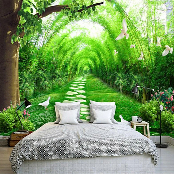 Jual Custom 3d Wall Mural Wallpaper 3d Natural Landscape Country