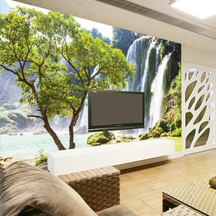 Jual Custom Mural Wallpaper 3d Wall Mural Natural Landscape