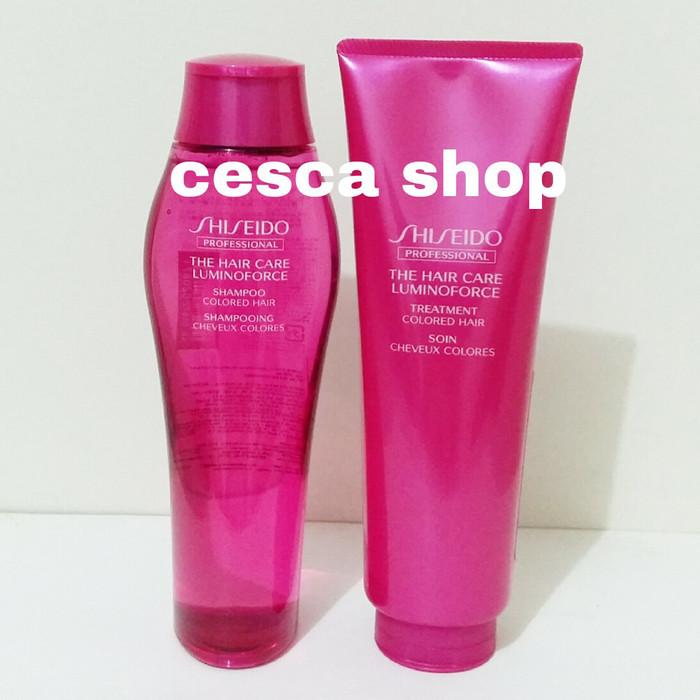 Paket Shiseido Luminoforce Shampo 250 ml dan Treatment 250 gr